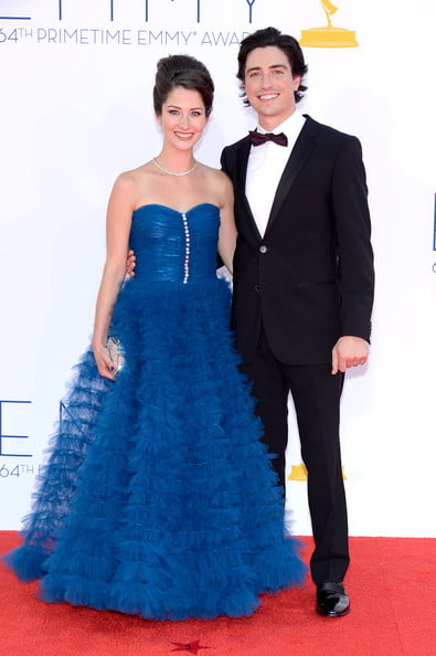 Michelle Mulitz and Ben Feldman at emmys 2013 pic