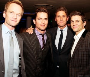 neil patrick harris matt bomer simon halls and David burtka pic
