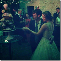 Laura Haddock sam Clafin Wedding pic